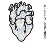 artistic decorative hand drawn...   Shutterstock .eps vector #644244745