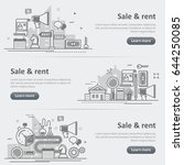 flat line vector design concept ... | Shutterstock .eps vector #644250085