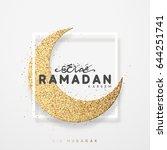 month ramadan greeting card.... | Shutterstock .eps vector #644251741