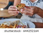 close up of a female hand... | Shutterstock . vector #644252164
