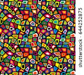 colorful mosaic seamless with... | Shutterstock . vector #644252875