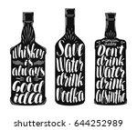 drinks  alcoholic beverages... | Shutterstock .eps vector #644252989