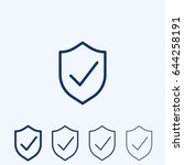 vector shield with check mark... | Shutterstock .eps vector #644258191