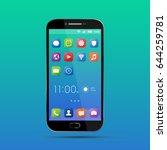 elegant smartphone with...   Shutterstock .eps vector #644259781