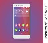 elegant smartphone with... | Shutterstock .eps vector #644259847