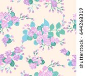 seamless folk pattern in wild...   Shutterstock .eps vector #644268319