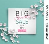 spring sale banner template...   Shutterstock .eps vector #644290429