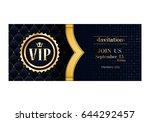 vip club party premium... | Shutterstock .eps vector #644292457