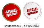 special discount stickers   Shutterstock .eps vector #644298061