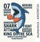 fighter shark vector...   Shutterstock .eps vector #644298724