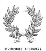 vintage vector laurel wreath... | Shutterstock .eps vector #644300611