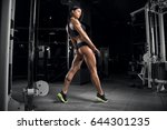 young beautiful fitness girl... | Shutterstock . vector #644301235