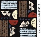 seamless african pattern.... | Shutterstock .eps vector #644303011