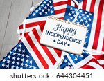 happy fourth of july usa flag | Shutterstock . vector #644304451
