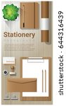 stationery background with...   Shutterstock .eps vector #644316439