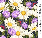 meadow flowers seamless pattern | Shutterstock .eps vector #644316739