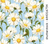 camomile seamless pattern | Shutterstock .eps vector #644316754
