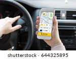 woman hands holding phone with... | Shutterstock . vector #644325895