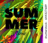summer time inscription with... | Shutterstock .eps vector #644327689