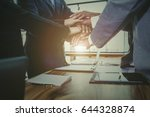 business team to cooperate in... | Shutterstock . vector #644328874