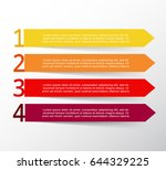 vector lines arrows infographic.... | Shutterstock .eps vector #644329225