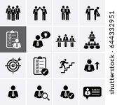 human management and corporate... | Shutterstock .eps vector #644332951