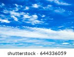 clouds in the blue sky | Shutterstock . vector #644336059