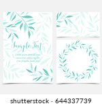 decoration of branches and... | Shutterstock .eps vector #644337739
