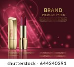 fashion cosmetic lipstick ads... | Shutterstock .eps vector #644340391