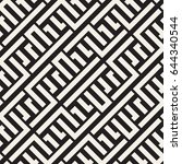interlacing lines maze lattice. ... | Shutterstock .eps vector #644340544