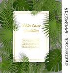 white paper on green summer... | Shutterstock .eps vector #644342719