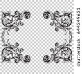 ornament in baroque style. you... | Shutterstock .eps vector #644349631