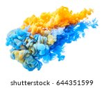 ink in water isolated on white... | Shutterstock . vector #644351599