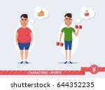funny cartoon character  fat... | Shutterstock .eps vector #644352235