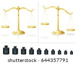 scale for maths and physics  ... | Shutterstock .eps vector #644357791