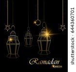 ramadan beautiful greeting card ... | Shutterstock .eps vector #644360701