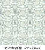 retro grey seamless circle... | Shutterstock .eps vector #644361631