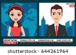 tv breaking news male in a coat ... | Shutterstock .eps vector #644361964