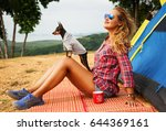 lifestyle image of happy young... | Shutterstock . vector #644369161