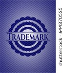 trademark badge with jean... | Shutterstock .eps vector #644370535