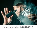 smoking  electronic cigarette.... | Shutterstock . vector #644374015