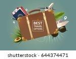 best travel offer concept.... | Shutterstock .eps vector #644374471