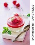 panna cotta dessert | Shutterstock . vector #644375239
