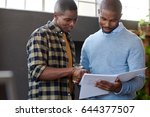 close up of two casually...   Shutterstock . vector #644377507