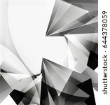 3d triangles and pyramids ... | Shutterstock .eps vector #644378059