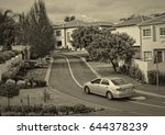 nostalgia. residential area in... | Shutterstock . vector #644378239