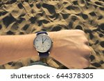 wristwatch  beach | Shutterstock . vector #644378305