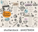 restaurant cafe menu | Shutterstock .eps vector #644378404