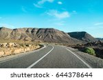 desert highway in the desert ... | Shutterstock . vector #644378644