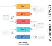 vertical timeline. year... | Shutterstock .eps vector #644379175